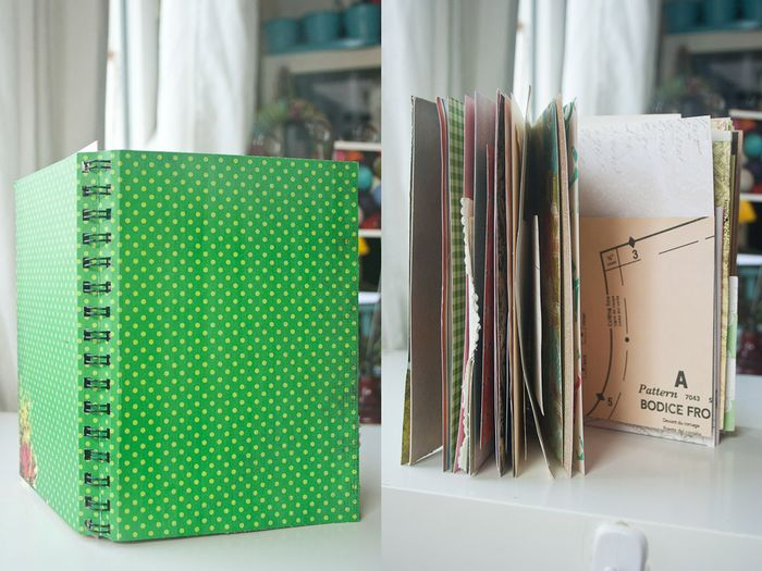 Completed spiral bound journal
