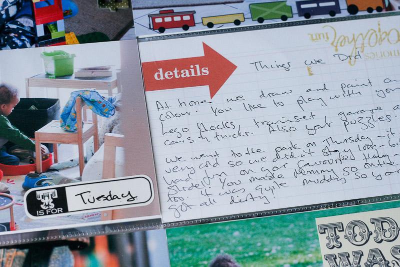 Journal Card Front in Album