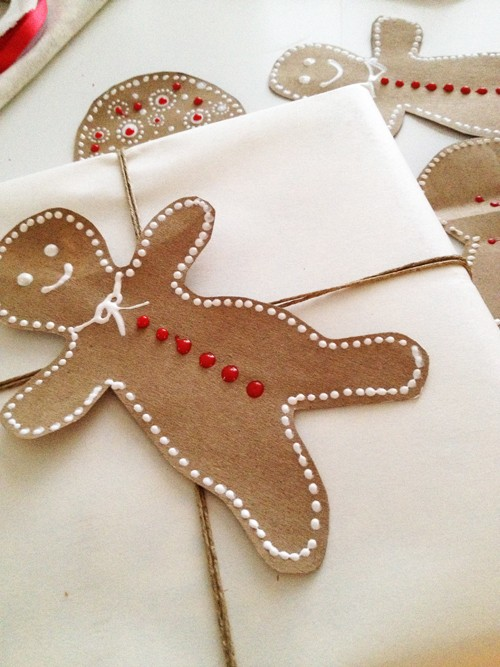 Paper bag gingerbread man