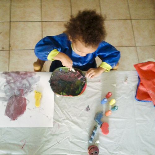 Kieran painting - Callaloo Soup Blog-1