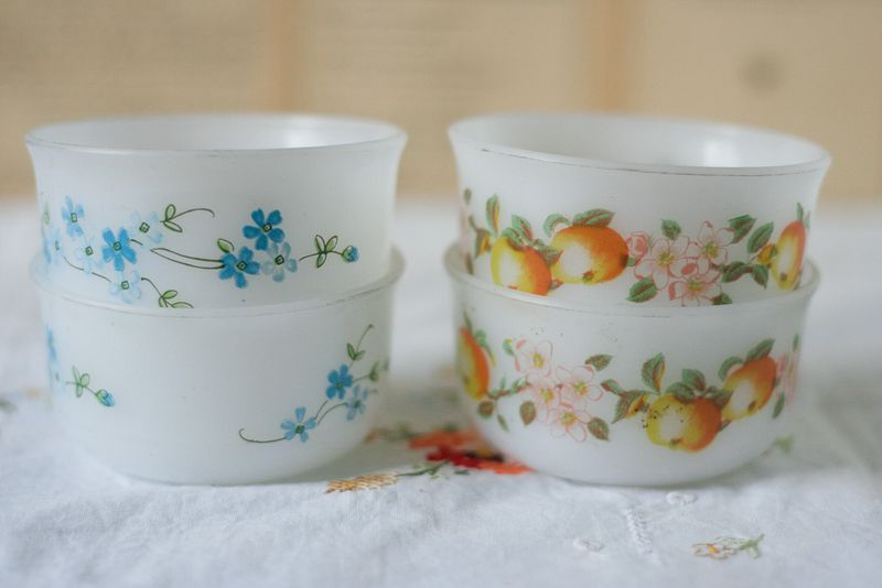 French Vintage Milk Glass Bowls Callaloo Soup Vintage-2