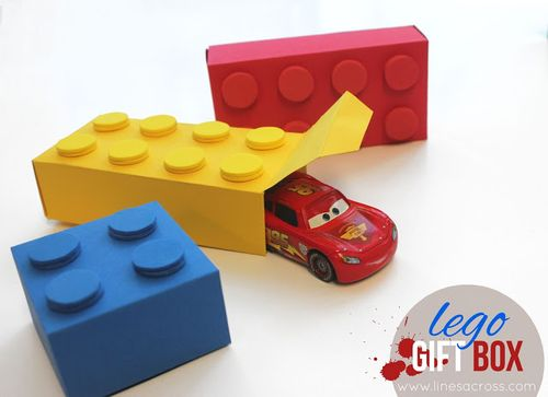 Lego gift box from lines across