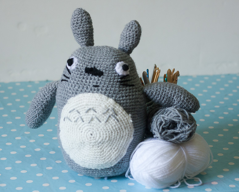 Amigurumi Totoro Toy at Callaloo Soup -1