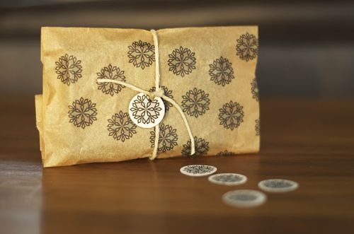 Holiday brown bag gift wrap from little monster
