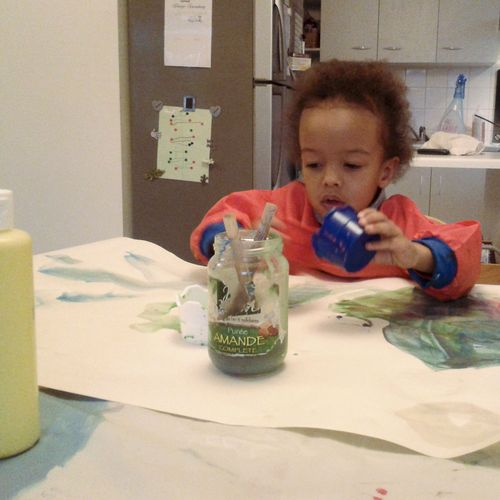 Kieran painting - Callaloo Soup Blog-3