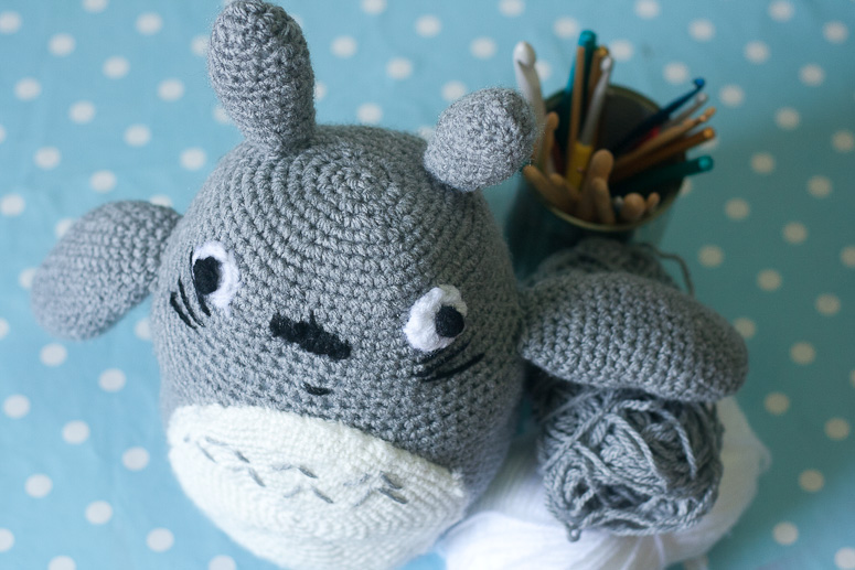 Amigurumi Totoro Toy at Callaloo Soup -5