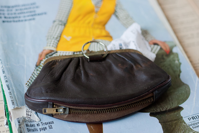 Dark Brown Leather Vintage Coin Purse from Callaloo Soup Vintage-3