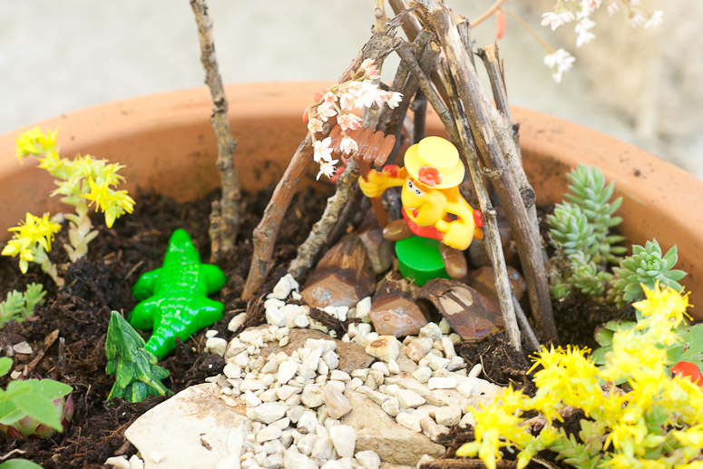 How to Make a Fairy Garden for next to nothing at Callaloo Soup -13