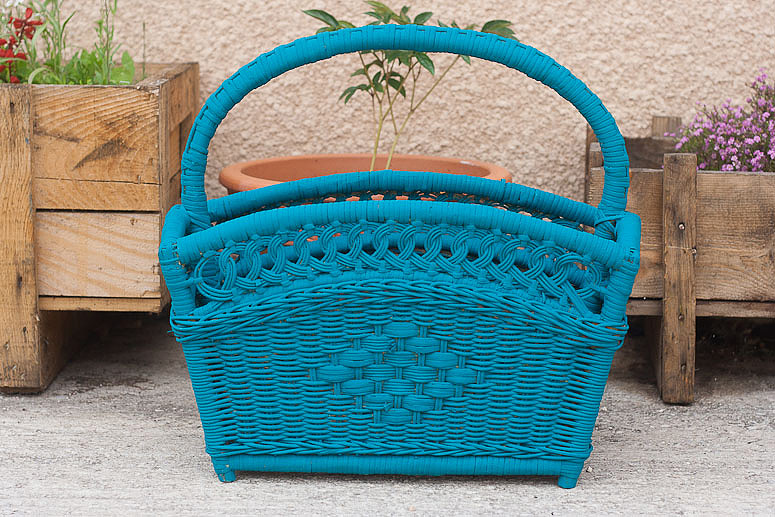 Updated wicker magazine basket at Callaloo Soup_ copy