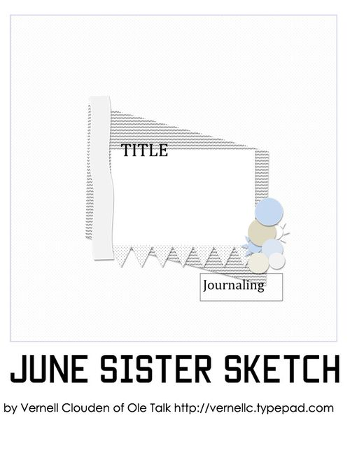 June Sister Sketch by Vernell Clouden