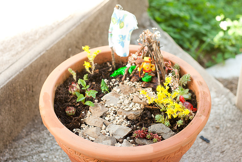 How to Make a Fairy Garden for next to nothing at Callaloo Soup -3