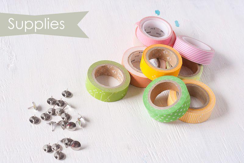 Tuesday To-Do at Callaloo Soup - Washi Tape Thumbtacks Supplies