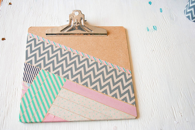 DIY - Snazz Up a Clipboard with Washi Tape at Callaloo Soup - Complete