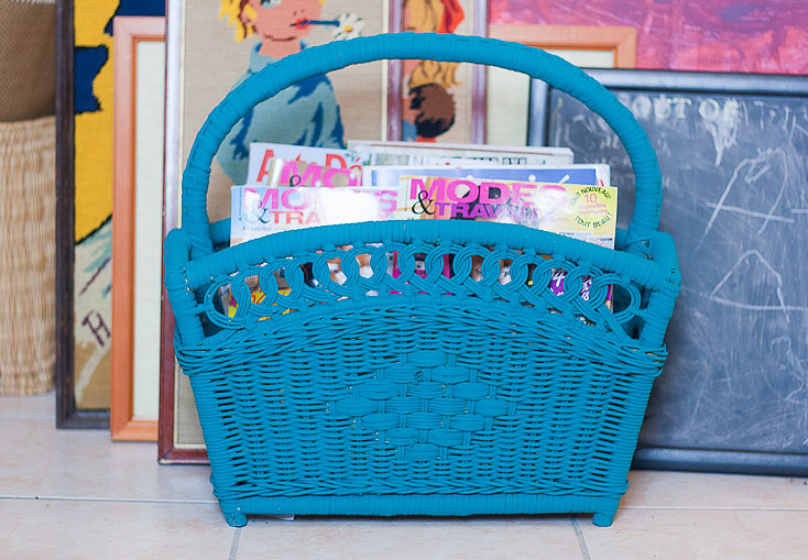 Flea Market Chic Storage Series Callaloo Soup - Magazine Basket after 2