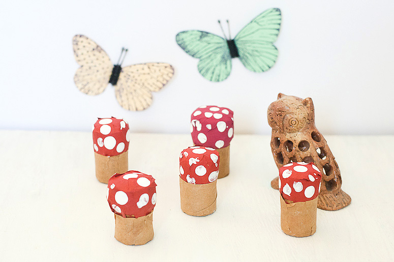 Make Toadstools from old wine corks