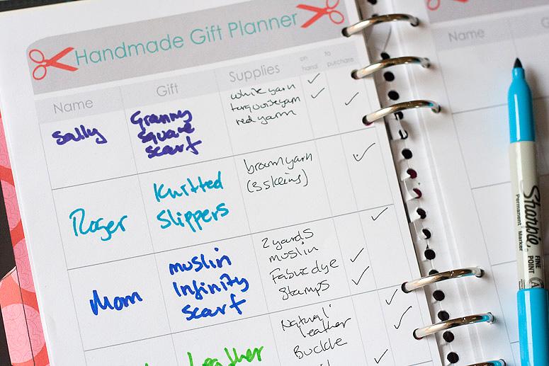 Free Printable Handmade Gift Planner at Callaloo Soup-3