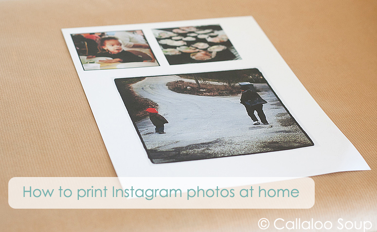 How to Print Instagram Photos at Home at Callaloo Soup-2