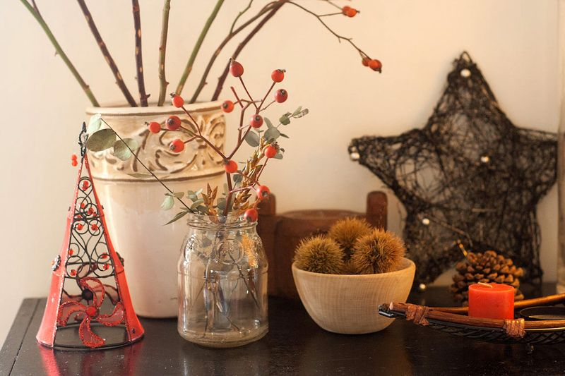 Simple & Natural Christmas Decor  at Callaoo Soup-4
