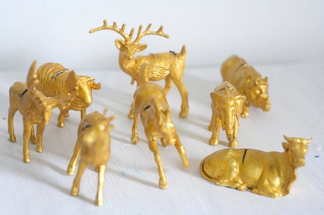 Gold Filigree Animal Place Card Holders at Callaloo Soup-3