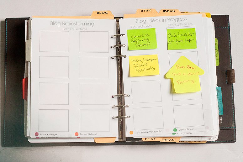 Filofax Friday February- Blog planning at Callaloo Soup-4