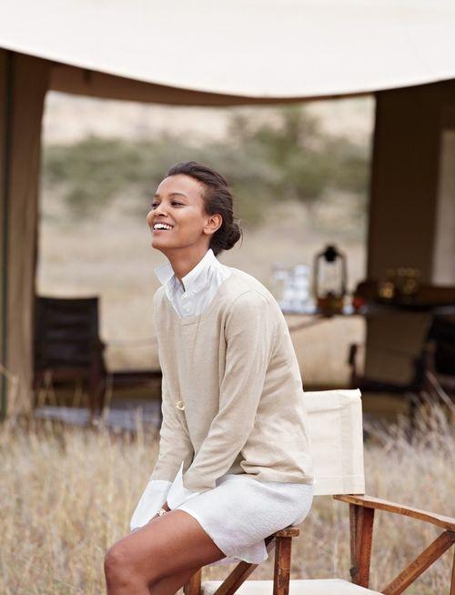Liya Kebede in Tanzania for Jcrew