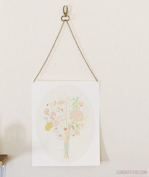 Hanging art DIY at Lemon Jitters