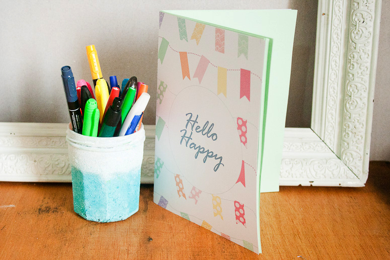 Hello Happy Notebook Jotter Freebie and Tutorial at Callaloo Soup-7