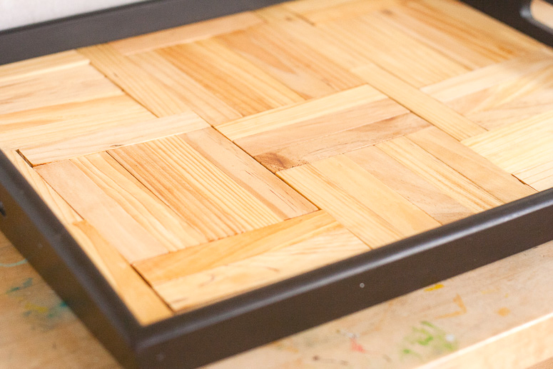 Update a tray using Faux Kapla Planks - Callaloo Soup-9