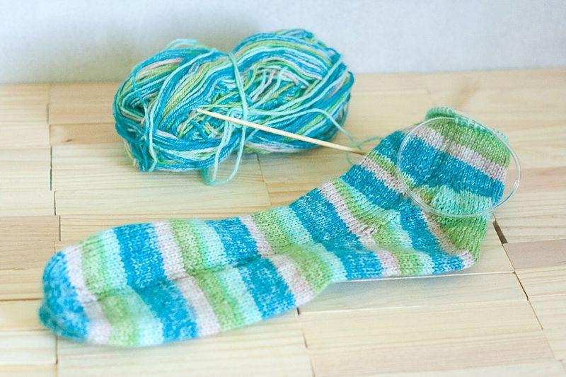 Knitting Update - Socks at Callaloo Soup-5