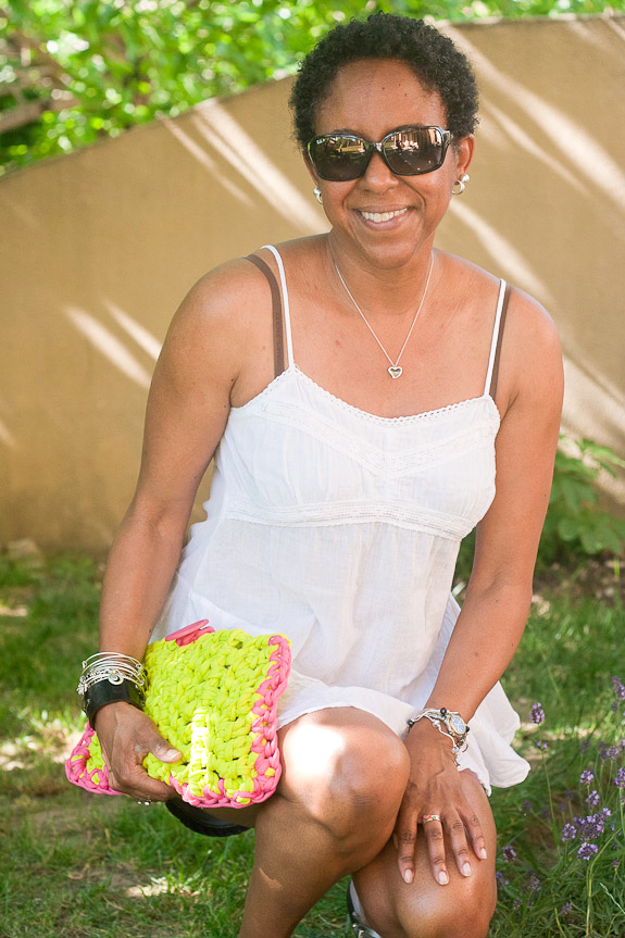 Neon Crochet Summer Clutch from T-shirt Yarn by Francine Clouden for Make & Takes-25