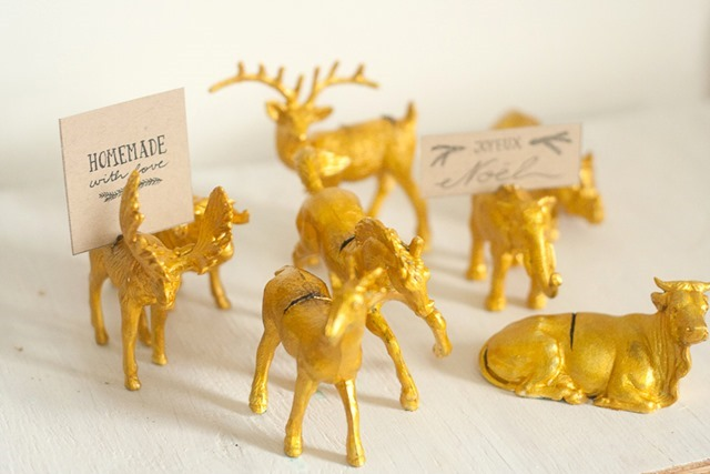 Gold Filigree Animal Place Card Holders at Callaloo Soup-4