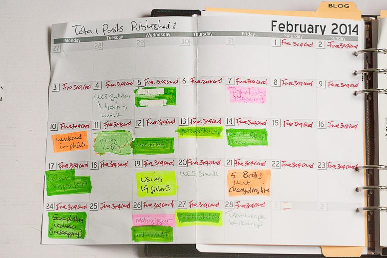 Filofax Friday February- Blog planning at Callaloo Soup-2