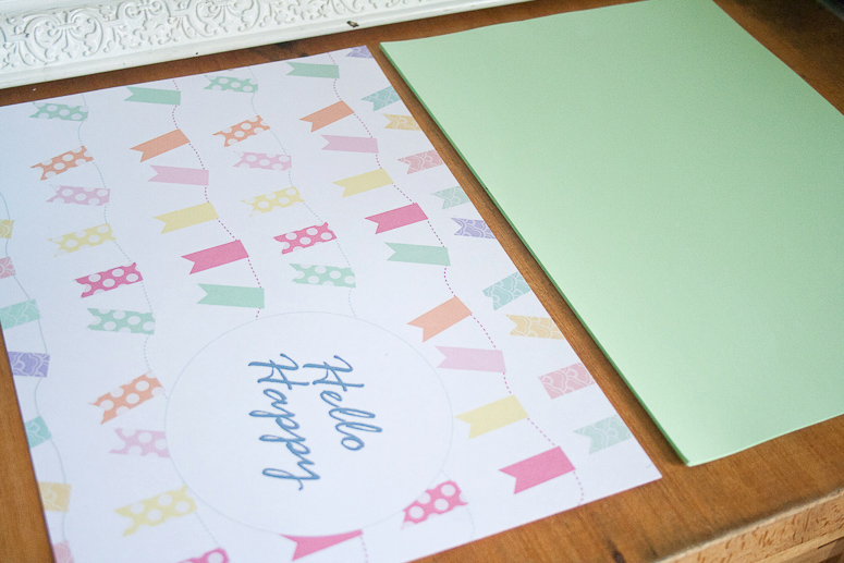 Hello Happy Notebook Jotter Freebie and Tutorial at Callaloo Soup-1