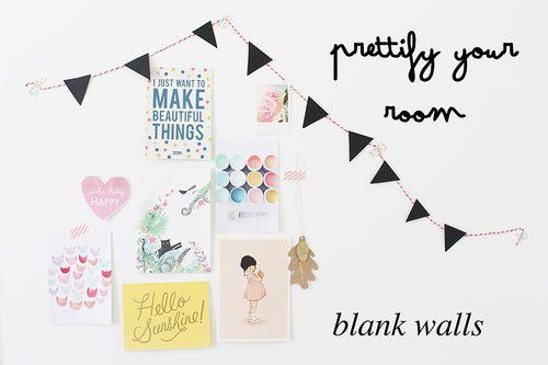 Prettify your room blank walls Vanilla Craft Blog