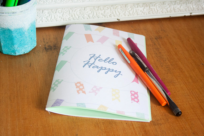 Hello Happy Notebook Jotter Freebie and Tutorial at Callaloo Soup-8