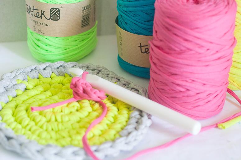 Crocheting with Tek Tek T-shirt Yarn-3