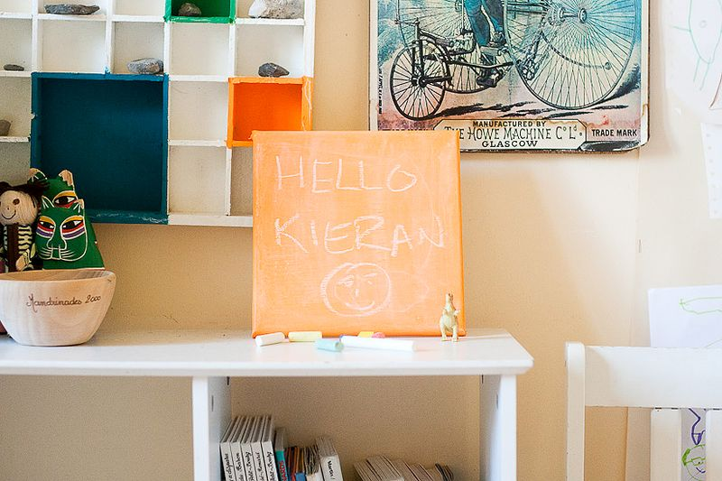 Make a Chalkboard Canvas for Back To School at Callaloo Soup
