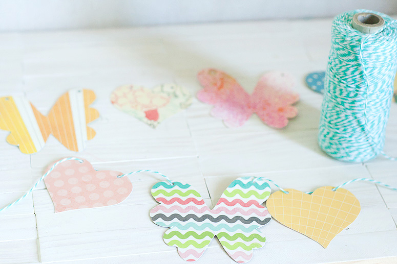 Hearts and Flowers Garland using Makin it Cute Templates by Callaloo Soup-5
